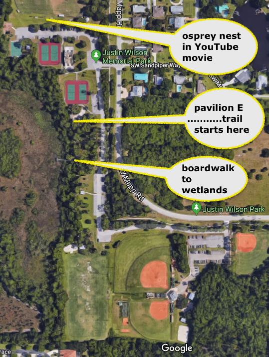 Justin Memorial Park Wetlands Trail Map